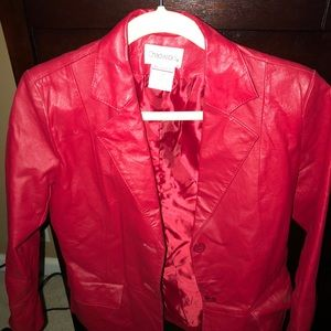 Red leather blazer/jacket